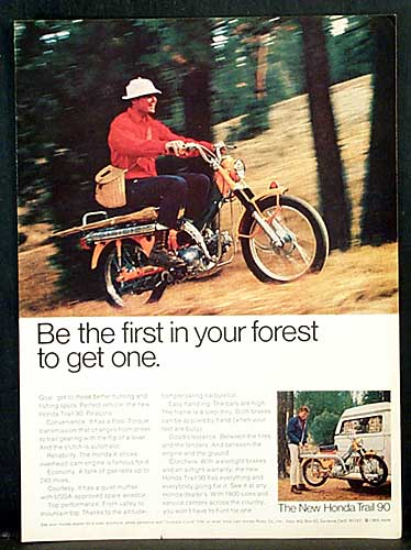 Honda Trail CT90 Ad - Be the first in your forest to get one.