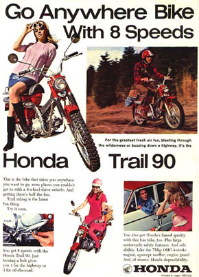 Honda Trail CT90 Ad - Go anywhere with 8 Speeds