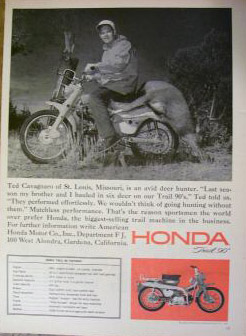 Honda Trail CT90 Ad - Wouldn't Go Hunting Without Them