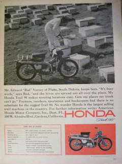 Honda Trail CT90 Ad - It's Busy Work
