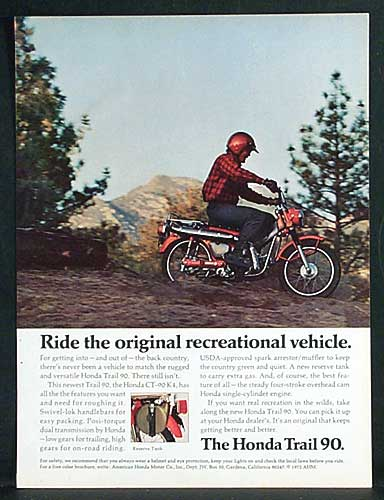 Honda Trail CT90 Ad - Ride the original recreational vehicle