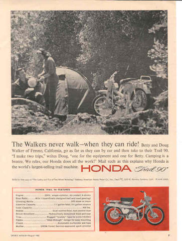 Honda Trail CT90 Ad - The Walkers never walk when they can ride!